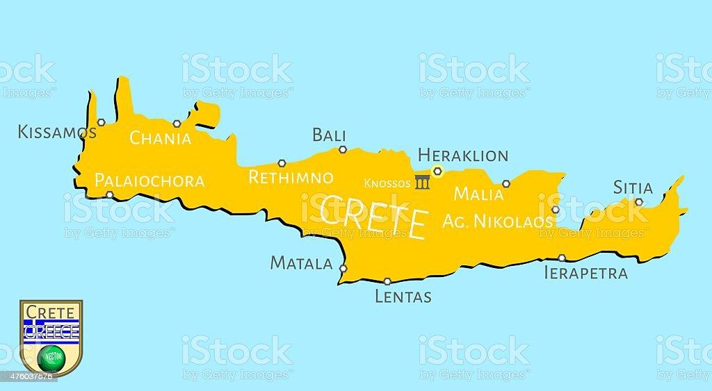 Cartina Geografica Dell Isola Di Creta.Mappa Dellisola Greca Di Creta Immagini Vettoriali Stock E Altre Immagini Di 2015 Istock
