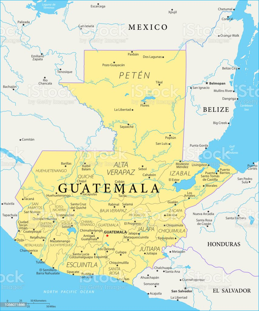 Map Of Guatemala Vector Stock Illustration - Download Image ...