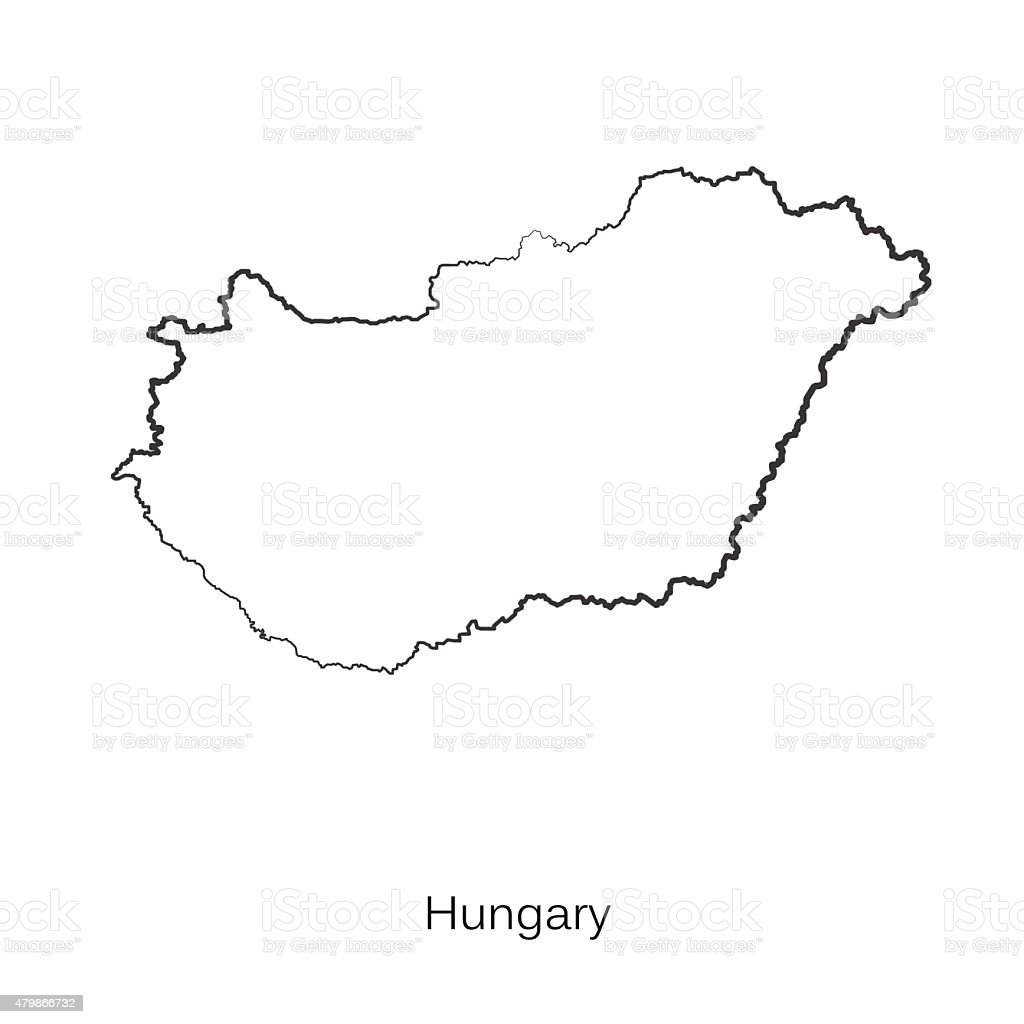Map Of Hungary For Your Design Stock Vector Art IStock - Hungary blank map