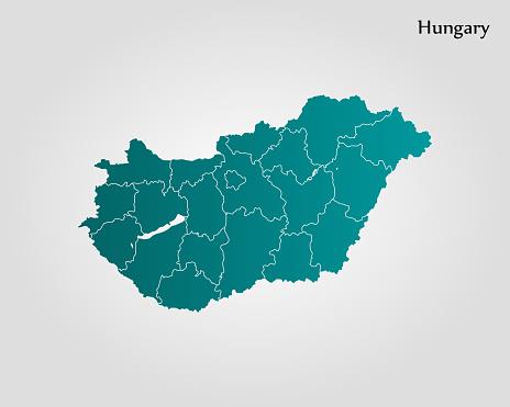 Map of Hungary