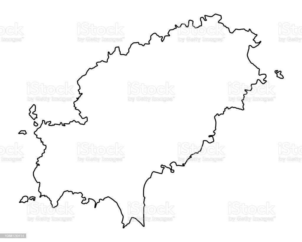Ibiza Karte Umriss.Karte Von Ibiza Stock Vektor Art Und Mehr Bilder Von Deutschland