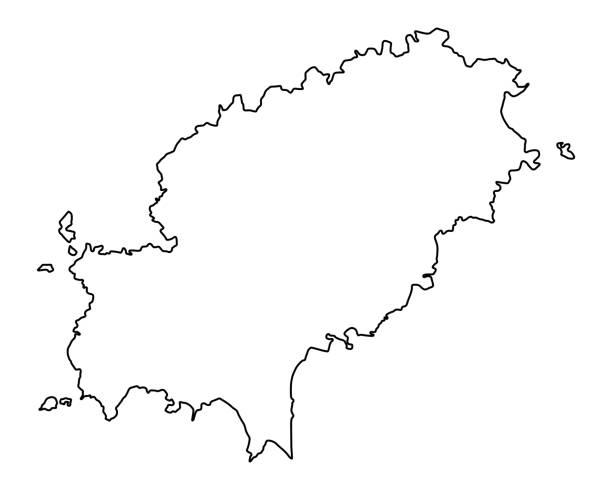 ilustrações de stock, clip art, desenhos animados e ícones de map of ibiza - ibiza