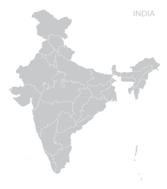 map of india - indian stock illustrations, clip art, cartoons, & icons