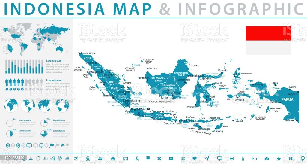Map Of Indonesia Infographic Vector Stock Vector Art & More Images ...