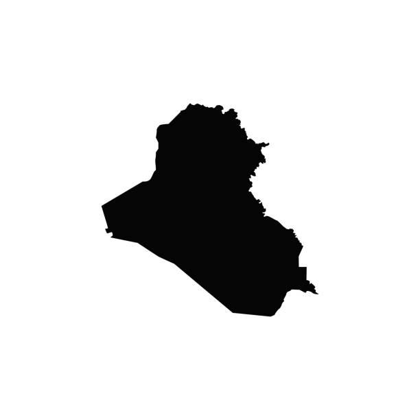 ilustraciones, imágenes clip art, dibujos animados e iconos de stock de mapa de irak - mapa de oriente medio