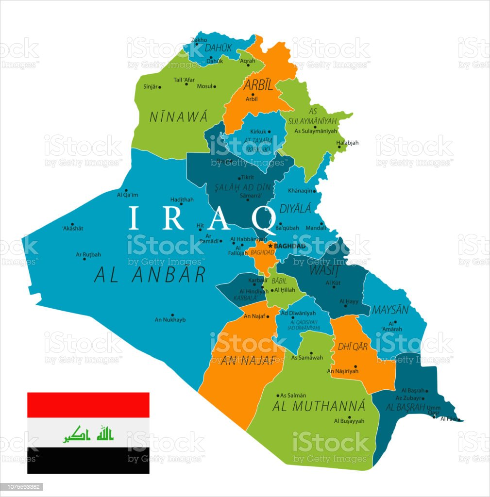 Map Of Iraq Vector Stock Illustration - Download Image Now ...