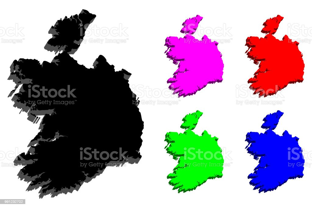 Map Of Ireland 3d.3d Map Of Ireland Stock Illustration Download Image Now Istock