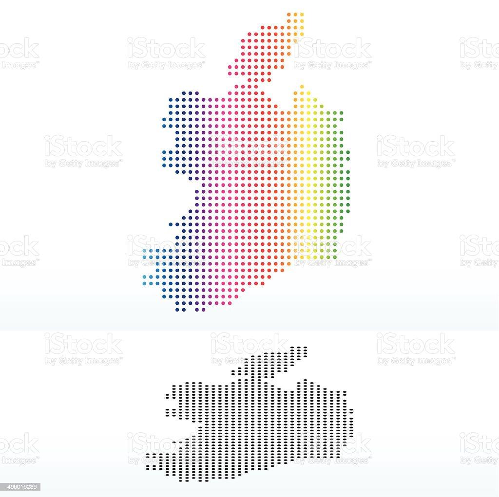 Ilustración de Mapa De Irlanda Con Patrón De Puntos y más banco de ...