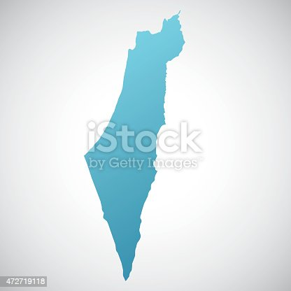 istock map of Israel 472719118