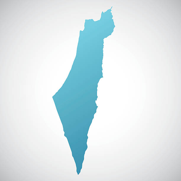 stockillustraties, clipart, cartoons en iconen met map of israel - israël