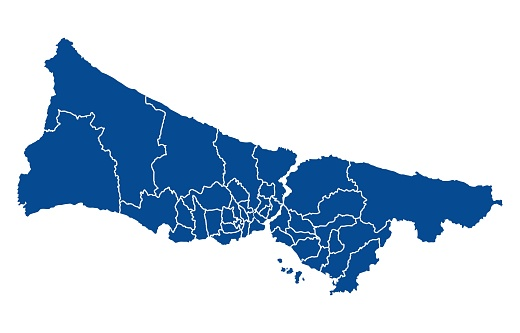 Map of Istanbul city
