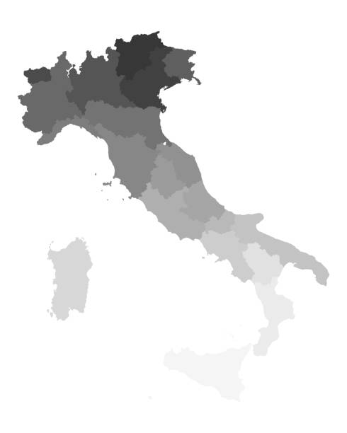 illustrazioni stock, clip art, cartoni animati e icone di tendenza di map of italy - calabria map