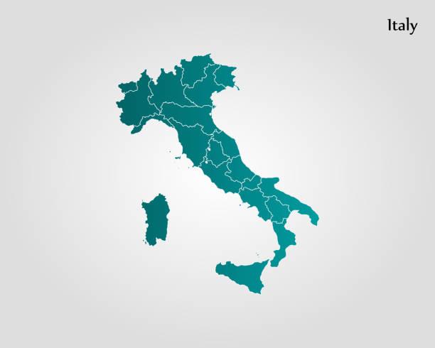 illustrazioni stock, clip art, cartoni animati e icone di tendenza di map of italy - sardegna