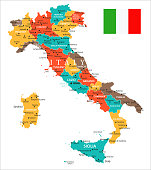 Map of Italy - Vector illustration