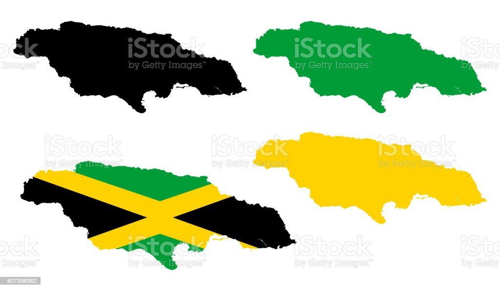 Map Of Jamaica Stock Vector Art More Images Of Abstract 927358362
