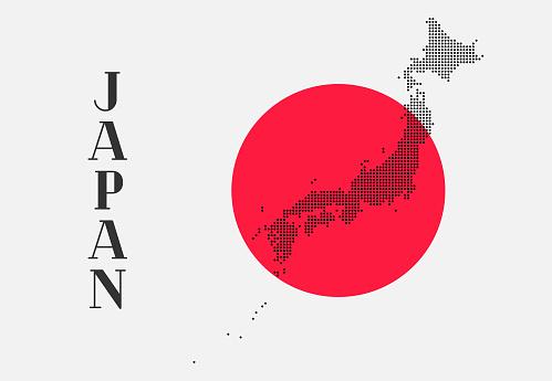 Map of Japan design concept