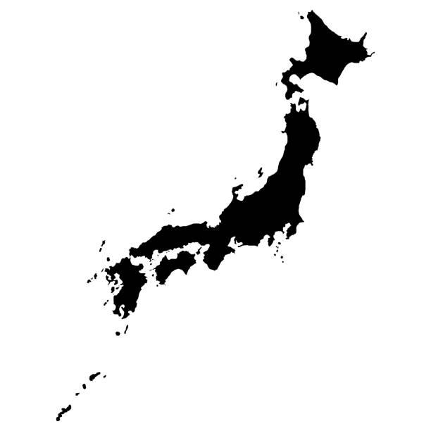 高解像度の日本の地図 - 日本 地図点のイラスト素材/クリップアート素材/マンガ素材/アイコン素材