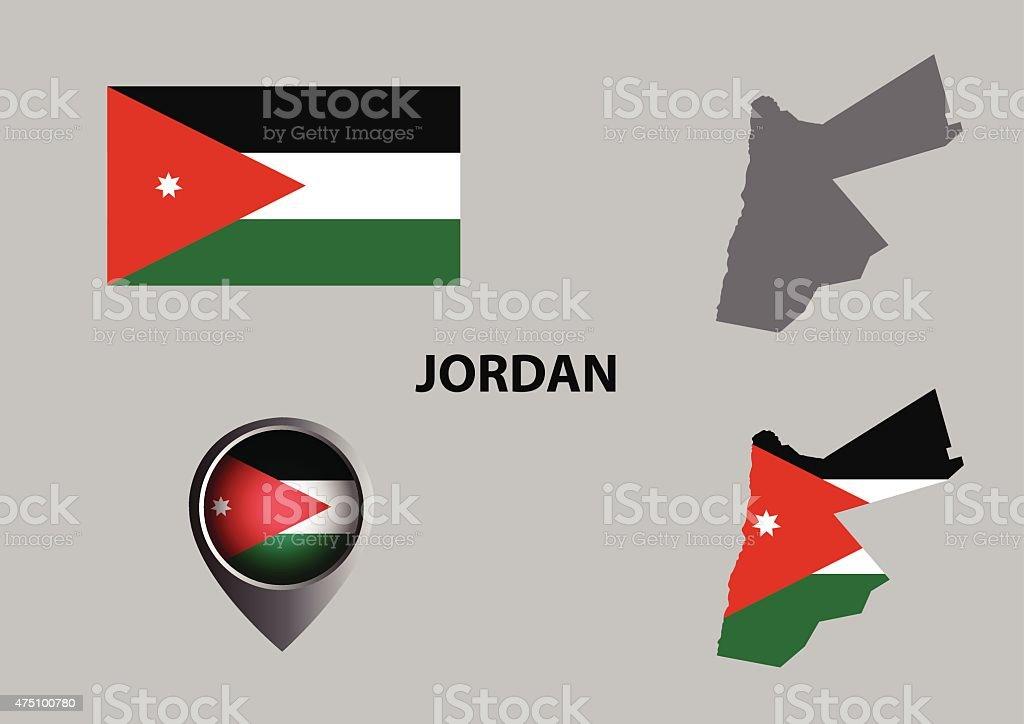 Map Of Jordan And Symbol Stock Vector Art 475100780 Istock