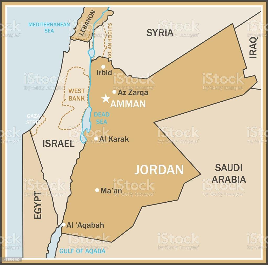 Ilustración De Mapa De Jordania Y Más Banco De Imágenes De
