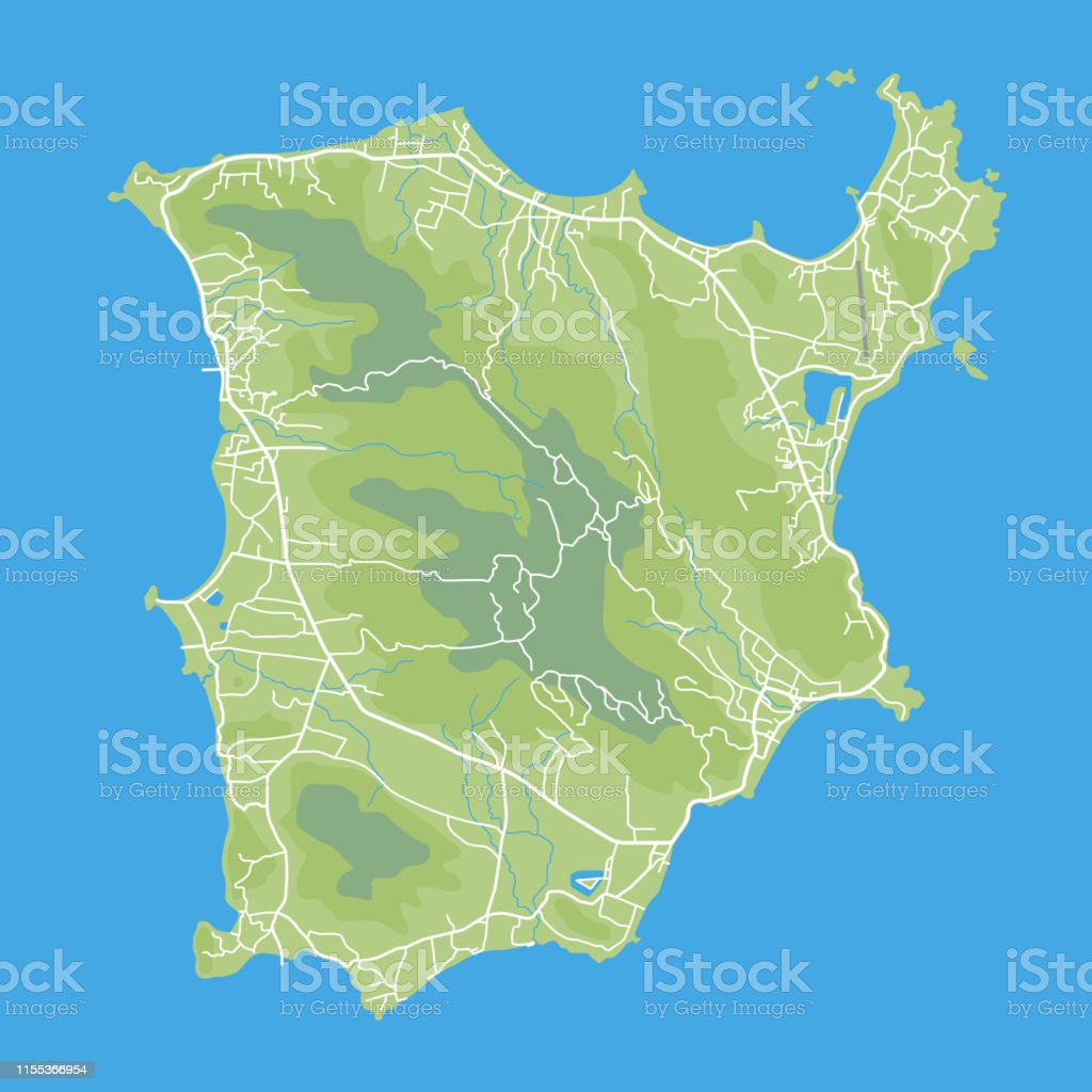 Image of: Map Of Koh Samui Stock Illustration Download Image Now Istock