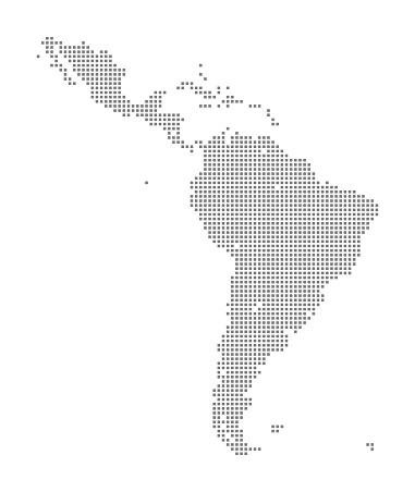Map of Latin America using Squares