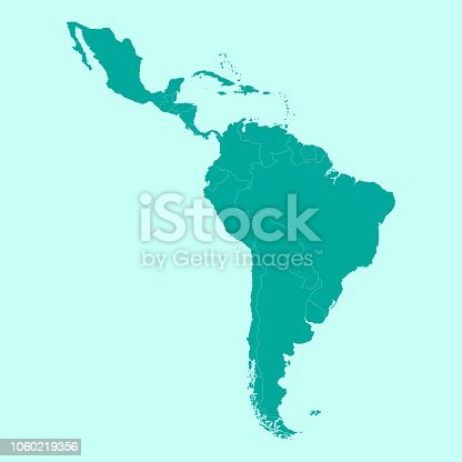 Map of Latin America. Vector Illustration