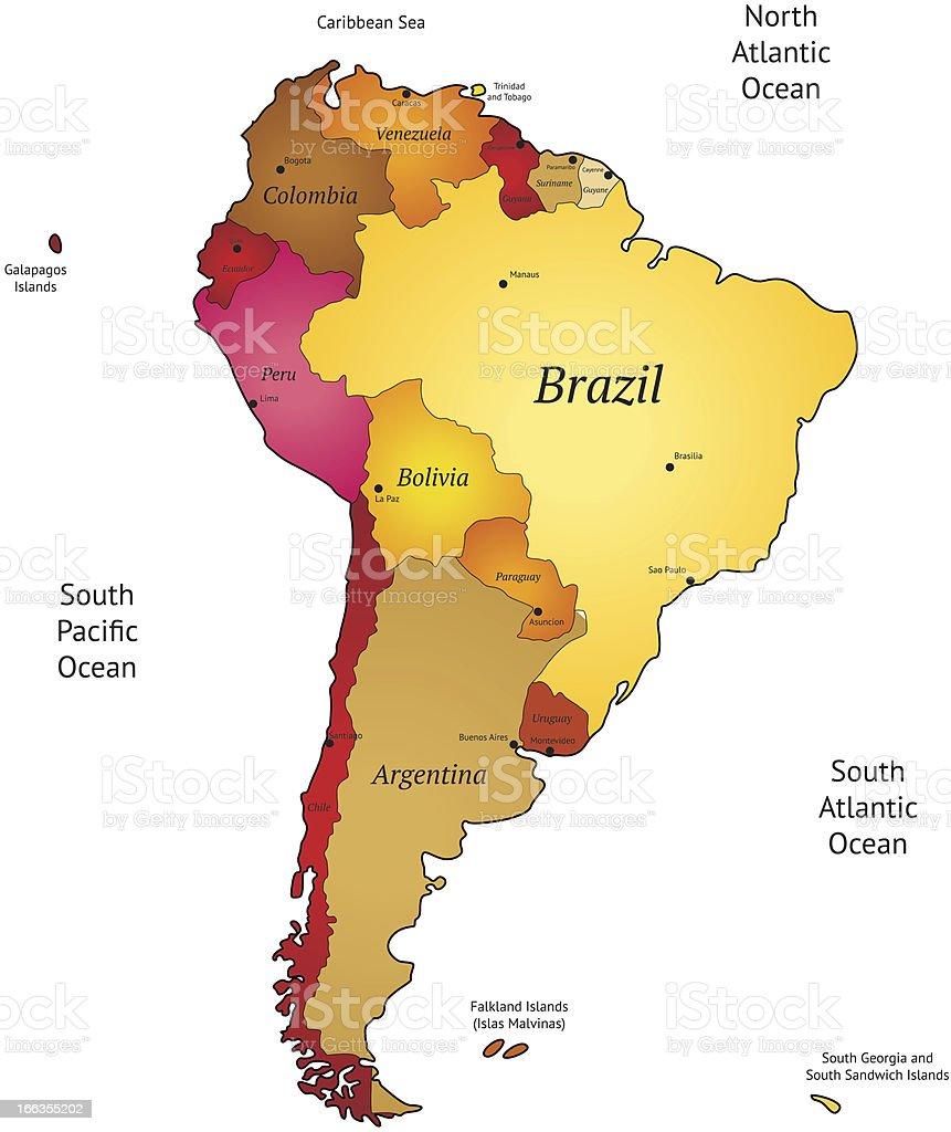 Mappa di america latina immagini vettoriali stock e for Piani di fattoria del sud