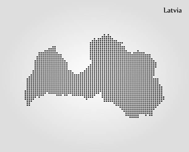 Map of Latvia Map of Latvia. Vector illustration. World map latvia stock illustrations