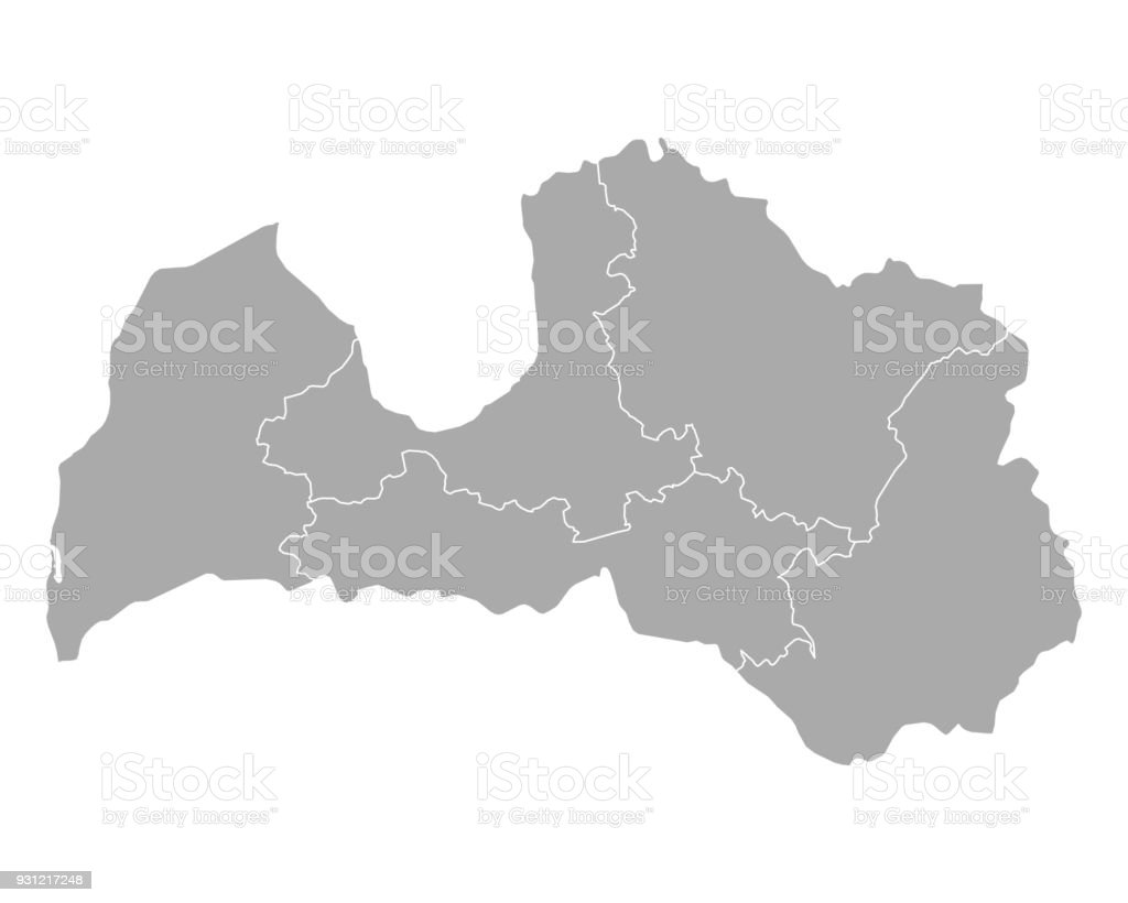 Map of Latvia royalty-free map of latvia stock illustration - download image now