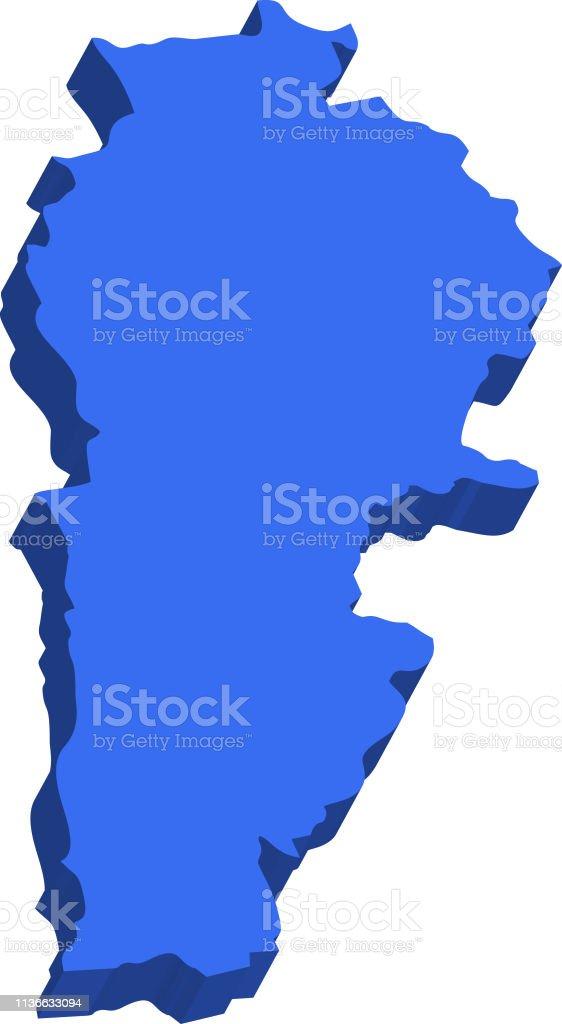3d Map Lebanon Stock Illustration Download Image Now