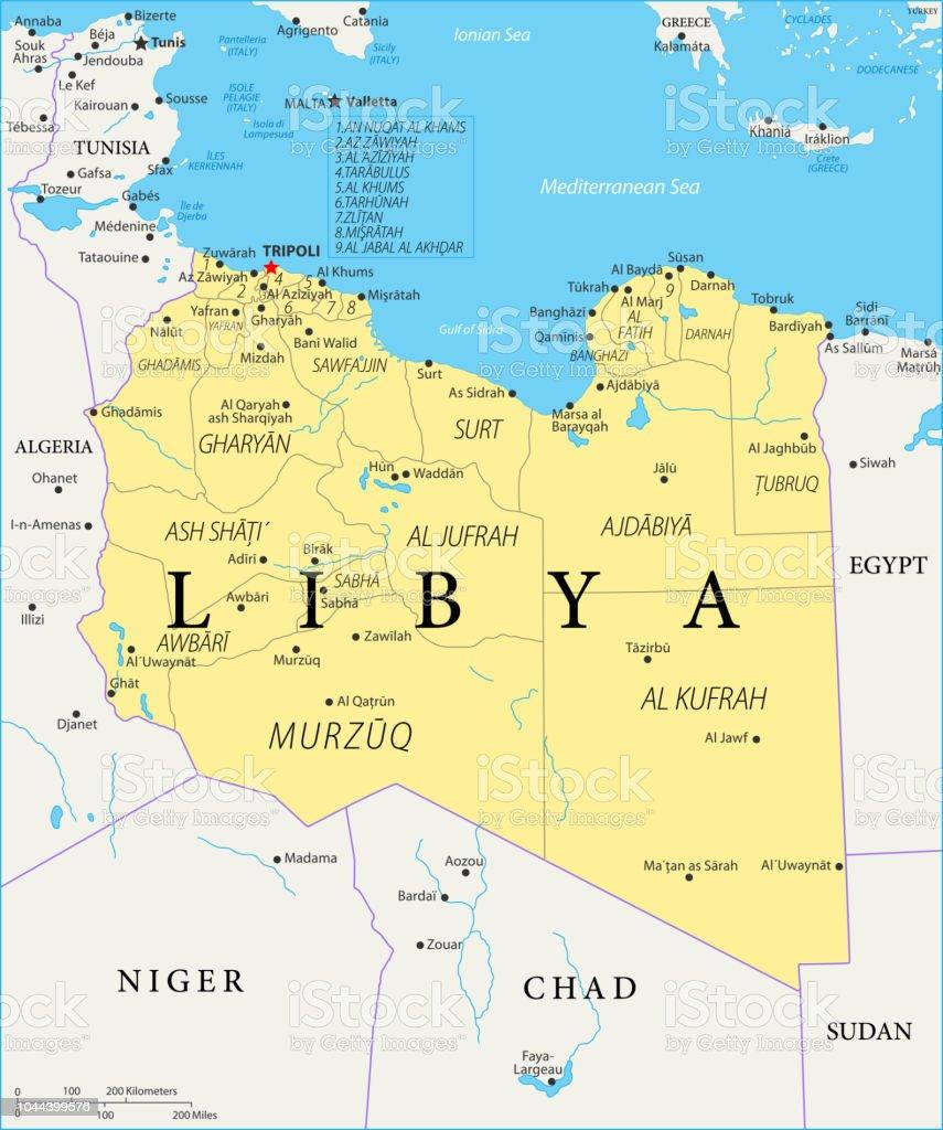 Carte Algerie Libye.Carte De Libye Vecteur Vecteurs Libres De Droits Et Plus D