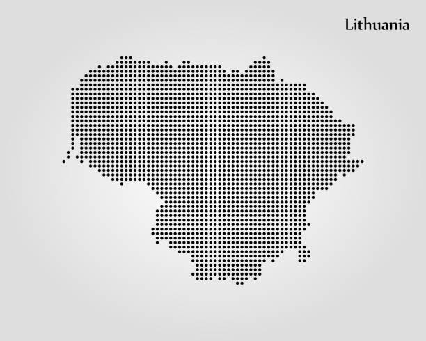 Map of Lithuania Map of Lithuania. Vector illustration. World map lithuania stock illustrations