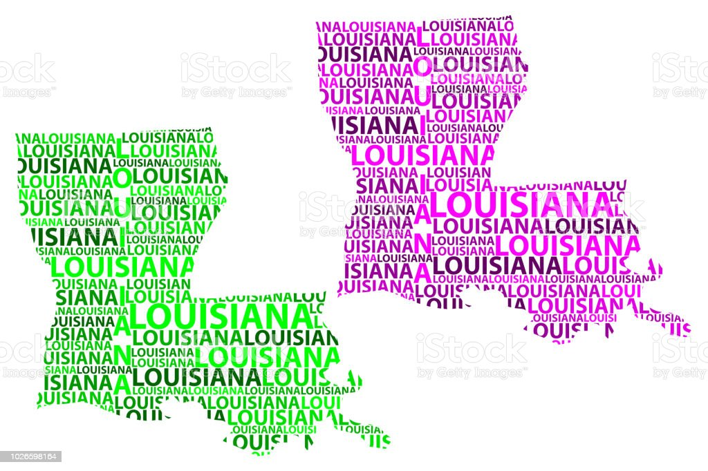 Map of Louisiana - vector illustration vector art illustration