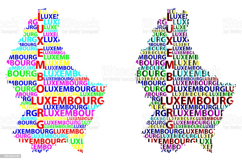 Map Of Luxembourg Vector Illustration Stock Vector Art & More Images ...