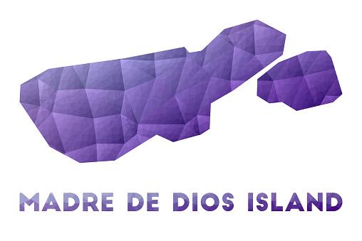Map of Madre de Dios Island.