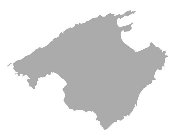 Mallorca Karte Umriss.Mallorca Karte Stock Vektoren Und Grafiken Istock