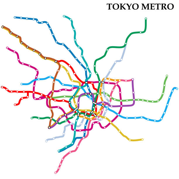 メトロの地図 - 東京点のイラスト素材/クリップアート素材/マンガ素材/アイコン素材