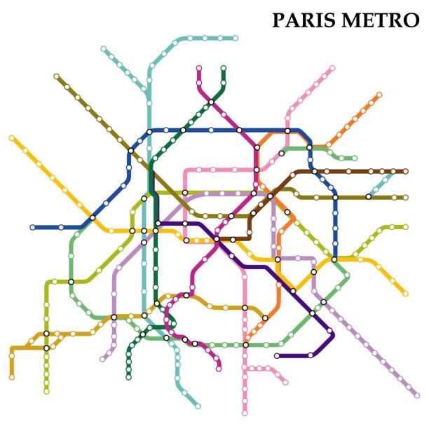 illustrations, cliparts, dessins animés et icônes de carte du métro - métro
