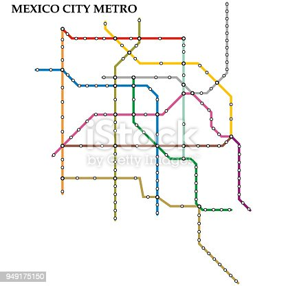 Map Metro Stock Vector Art & More of Abstract