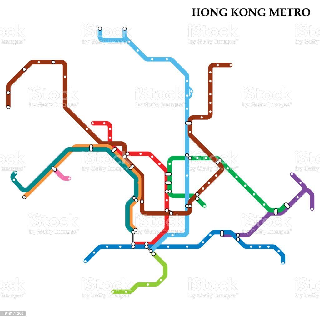 Hong Kong Subway Map Download.Map Of Metro Stock Illustration Download Image Now