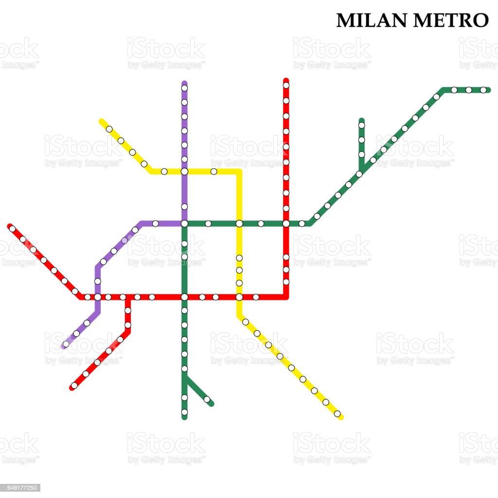 Map of metro - arte vettoriale royalty-free di Astratto