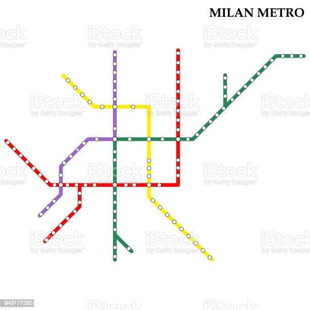 Map Of Metro - Immagini vettoriali stock e altre immagini di Astratto