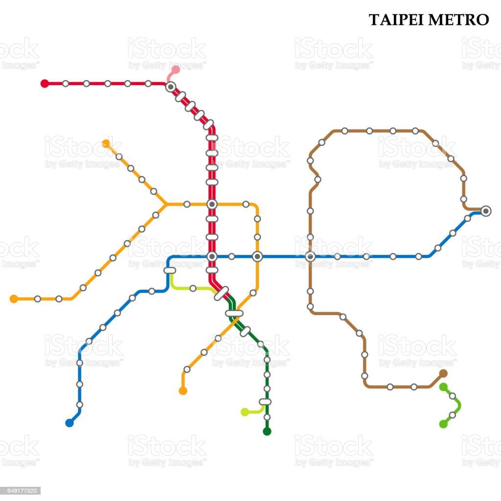 Subway Map Taipei.Map Of Metro Stock Illustration Download Image Now Istock