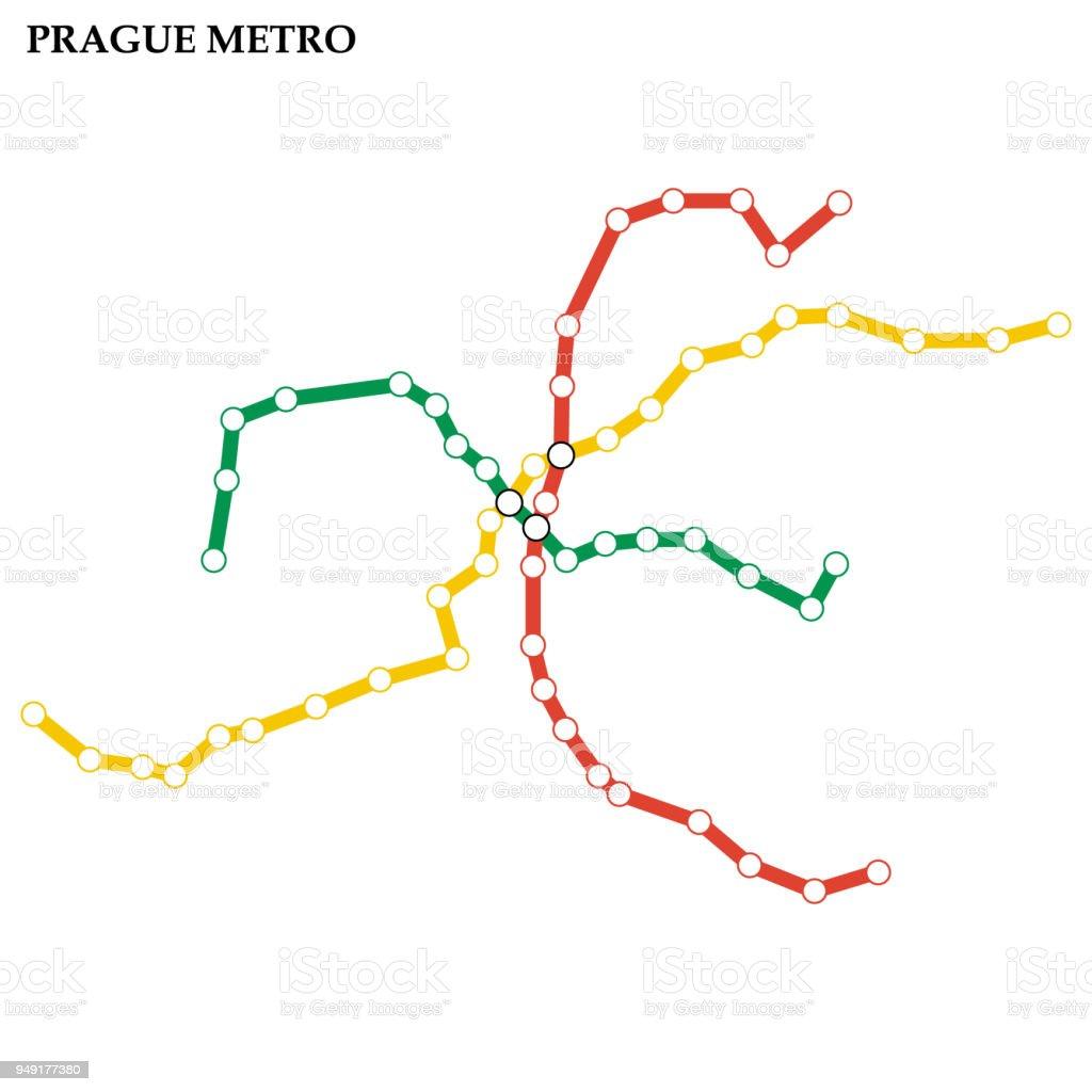 Metro Prag Karte.Karte Von Metro Stock Vektor Art Und Mehr Bilder Von Abstrakt Istock
