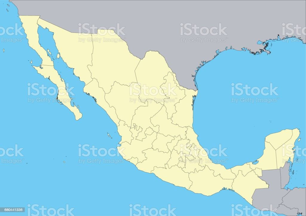 Map Of Mexico Stock Vector Art & More Images of Acapulco 680441336 ...