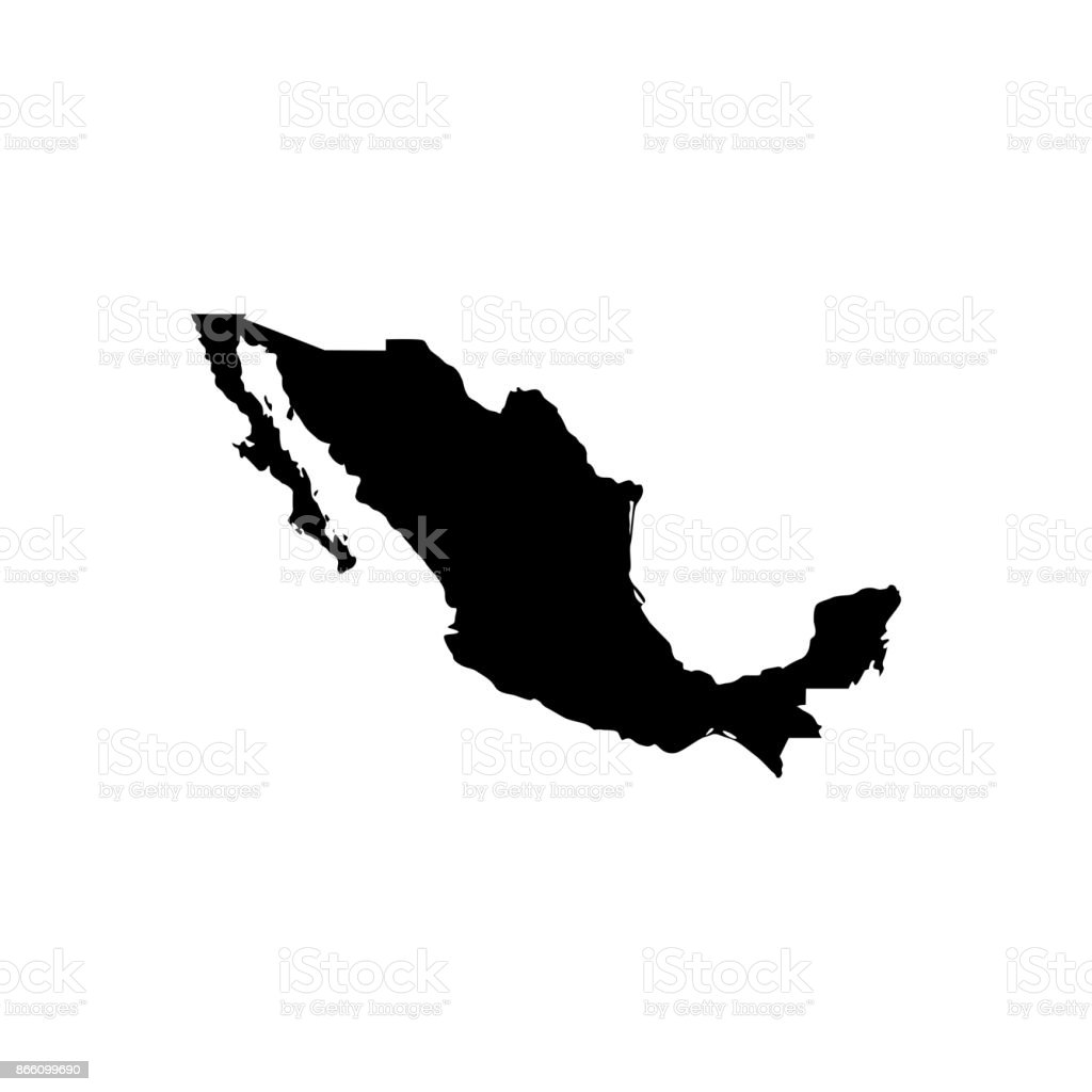 Map of Mexico vector art illustration