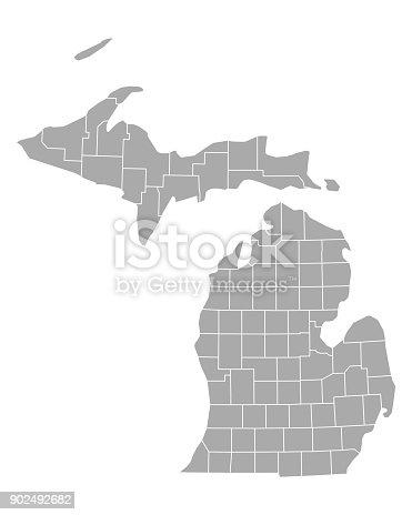 istock Map of Michigan 902492682