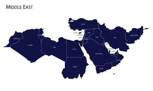 Map Of Middle East - Stockowe grafiki wektorowe i więcej obrazów Abstrakcja