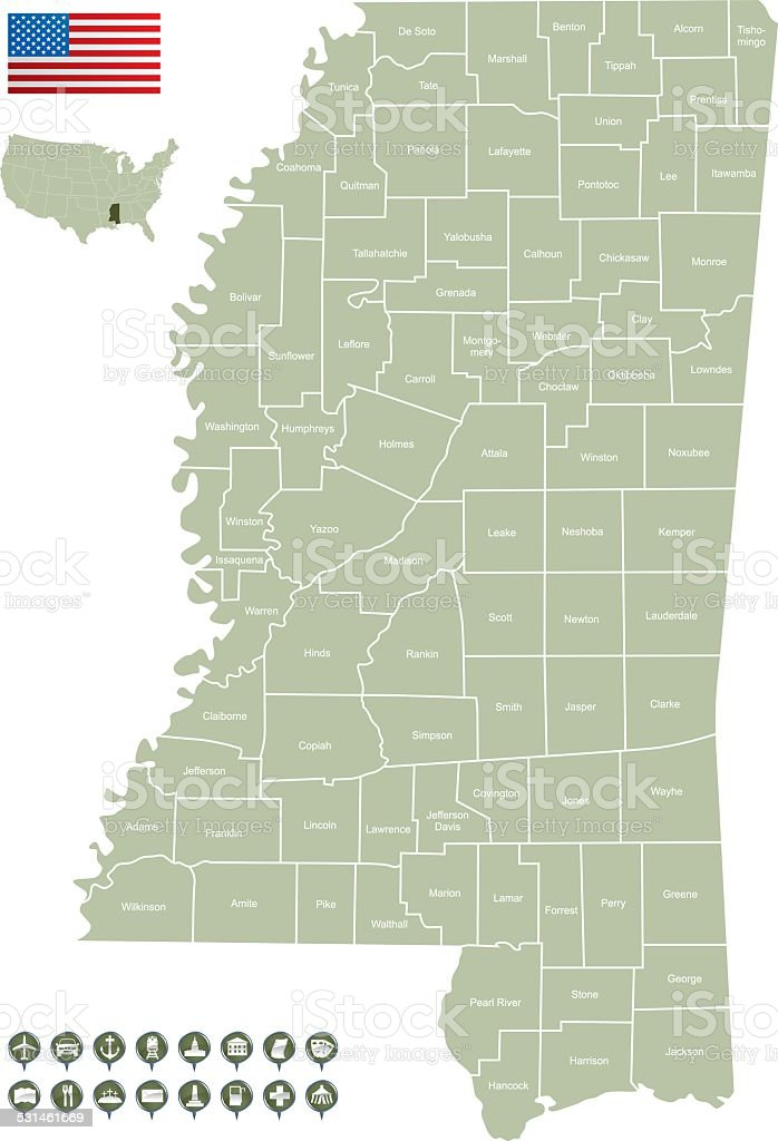 Picture of: Map Of Mississippi Stock Illustration Download Image Now Istock