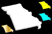 3D map of Missouri